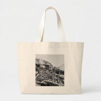 Vintage 1889 de la ruina del tren de la inundación bolsas