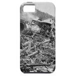Vintage 1889 de la ruina del tren de la inundación iPhone 5 Case-Mate protectores