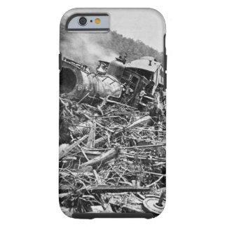 Vintage 1889 de la ruina del tren de la inundación funda para iPhone 6 tough