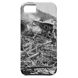 Vintage 1889 de la ruina del tren de la inundación iPhone 5 fundas