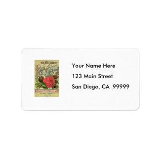 Vintage 1890 Dingee & Conard Guide to Rose Cultur Address Label