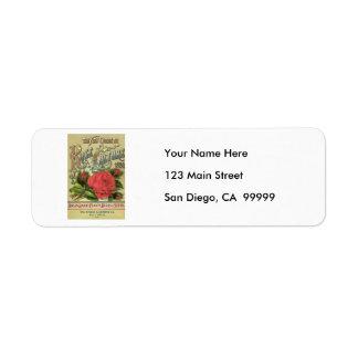 Vintage 1890 Dingee & Conard Guide to Rose Cultur Return Address Label