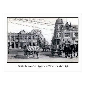 Vintage 1890 Fremantle Perth Australia Postal