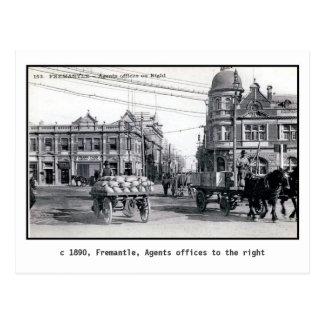 Vintage 1890 Fremantle, Perth, Australia Tarjetas Postales