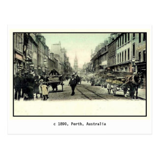 Vintage 1890 Perth, Australia Postcard