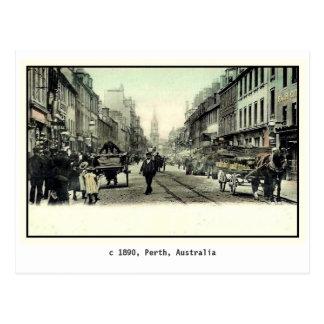 Vintage 1890 Perth, Australia Tarjetas Postales