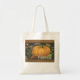 Vintage 1890 Pumpkin Label Bag
