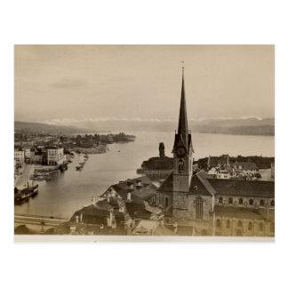 Vintage 1890 Zurich and Lake Zurich Postcards