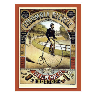 Vintage 1890s antique American bicycle advertising Postcard