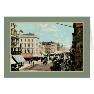 Vintage 1890s color Oxford street London photo Card