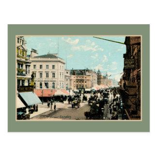 Vintage 1890s color Oxford street London photo Postcards
