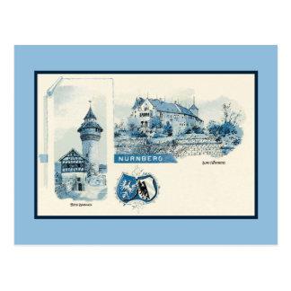 Vintage 1890s litho Nuernberg Nuremberg Postcard