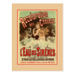 Vintage 1890s Mermaid French Hair Coloring ad Postcard