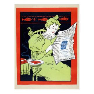 Vintage 1890s Mocha Coffee Advertisement Postcard
