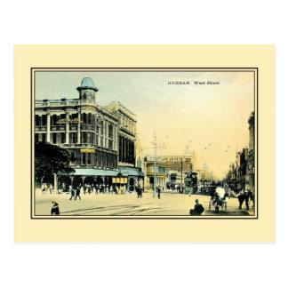 Vintage 1890s West Street Durban South Africa Postcard