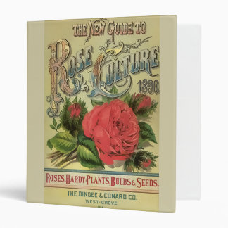 Vintage 1891 Guide to Rose Culture 3 Ring Binders