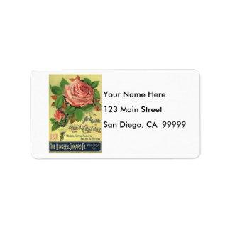 Vintage 1891 Guide to Rose Culture Address Label
