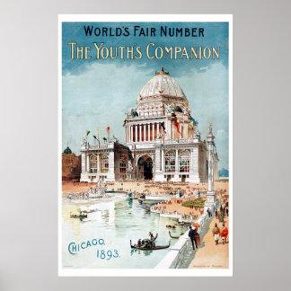 Vintage 1893 Chicago World s fair expo Print