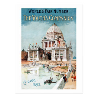 Vintage 1893 Chicago World's fair expo Postcard