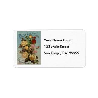 Vintage 1894 Guide to Rose Culture Address Label