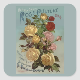 Vintage 1894 Guide to Rose Culture Square Sticker