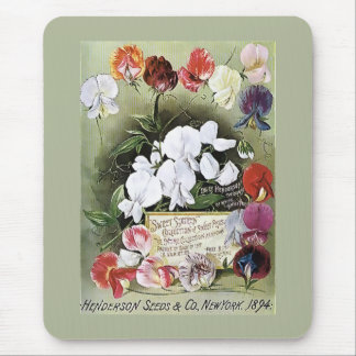 Vintage 1894 Henderson Assorted Seed Packet Mouse Pad