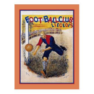 Vintage 1894 soccer football ad poster postcard