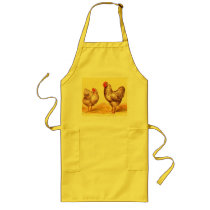 Vintage 1895 BARRED PLYMOUTH ROCK CHICKENS Apron