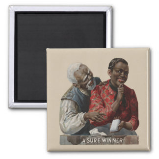 Vintage 1895 Cigar Ad African American 2 Inch Square Magnet