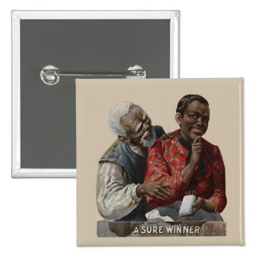 Vintage 1895 Cigar Ad African American Button