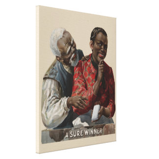 Vintage 1895 Cigar Ad African American Canvas Print
