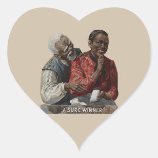 Vintage 1895 Cigar Ad African American Heart Sticker