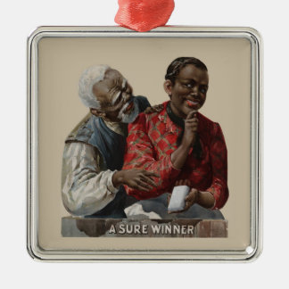 Vintage 1895 Cigar Ad African American Ornaments
