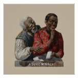 Vintage 1895 Cigar Ad African American Poster