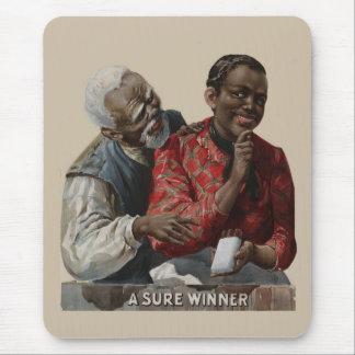 Vintage 1895 Cigar Ad African American Tobacco Mouse Pad