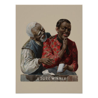 Vintage 1895 Cigar Ad Label African American Poster