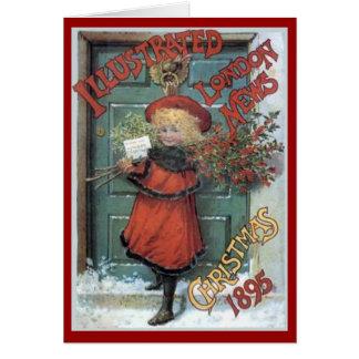 Vintage 1895 London News Christmas Card
