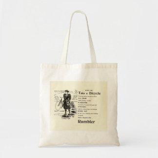 Vintage 1896 Bicycle magazine ad Budget Tote Bag