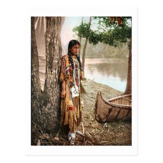 Vintage 1897 de Hiawatha del nativo americano de M Postales