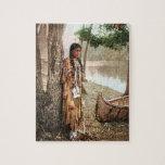 Vintage 1897 de Hiawatha del nativo americano de Puzzle