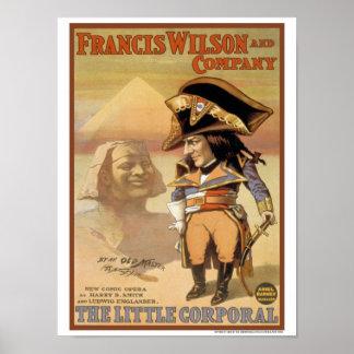 Vintage 1898 la pequeña ópera cómica corporal póster