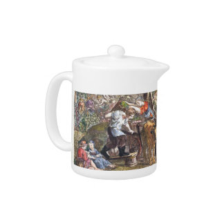 Vintage 18th Century French Countryside Teapot