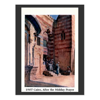 Vintage 1900 Cairo Egypt After the Midday Prayer Postcard