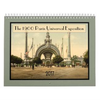 Vintage 1900 Paris Exposition 2015 Calendar