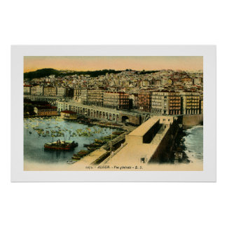 Vintage 1900s Algiers general view Poster