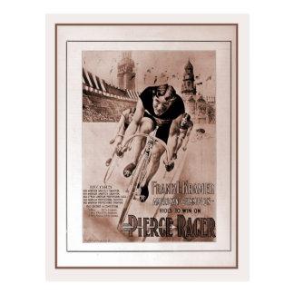 Vintage 1900s American cycling champion Postcard