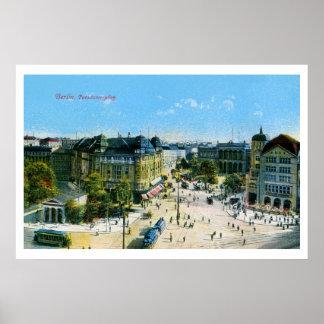 Vintage 1900s Berlin Potsdam Square Poster