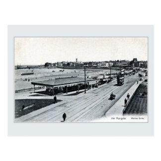 Vintage 1900s Marine Drive Margate Kent England Postcard