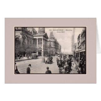 Vintage 1900s Melbourne Town Hall Greeting Card