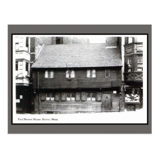 Vintage 1900s Paul Revere House Boston MA photo Postcard